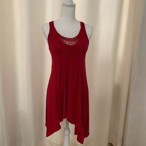 Red New York & Company Tunic Top.